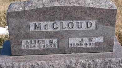 MURRAY MCCLOUD, ALICE M. - Dixon County, Nebraska | ALICE M. MURRAY MCCLOUD - Nebraska Gravestone Photos