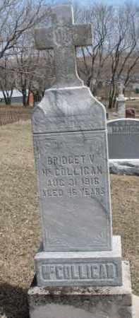 MCCOLLIGAN, BRIDGET V. - Dixon County, Nebraska | BRIDGET V. MCCOLLIGAN - Nebraska Gravestone Photos