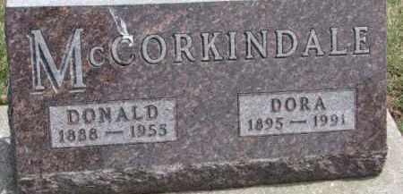 MCCORKINDALE, DONALD - Dixon County, Nebraska   DONALD MCCORKINDALE - Nebraska Gravestone Photos