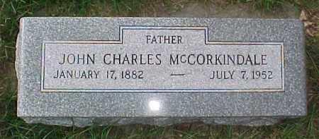 MCCORKINDALE, JOHN CHARLES - Dixon County, Nebraska | JOHN CHARLES MCCORKINDALE - Nebraska Gravestone Photos