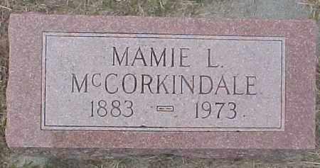 MCCORKINDALE, MAMIE L. - Dixon County, Nebraska | MAMIE L. MCCORKINDALE - Nebraska Gravestone Photos
