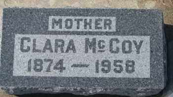 MCCOY, CLARA - Dixon County, Nebraska | CLARA MCCOY - Nebraska Gravestone Photos