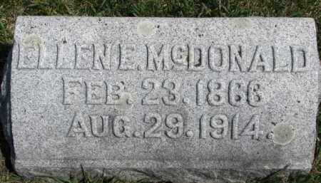 MCDONALD, ELLEN E. - Dixon County, Nebraska | ELLEN E. MCDONALD - Nebraska Gravestone Photos