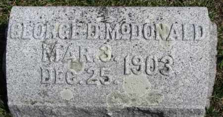 MCDONALD, GEORGE D. - Dixon County, Nebraska   GEORGE D. MCDONALD - Nebraska Gravestone Photos