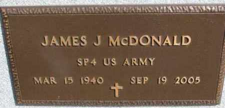 MCDONALD, JAMES J. (MILITARY MARKER) - Dixon County, Nebraska | JAMES J. (MILITARY MARKER) MCDONALD - Nebraska Gravestone Photos