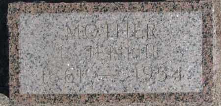 MCENTAFFER, L. JENNIE - Dixon County, Nebraska | L. JENNIE MCENTAFFER - Nebraska Gravestone Photos