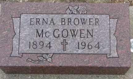 BROWER MCGOWEN, ERNA - Dixon County, Nebraska | ERNA BROWER MCGOWEN - Nebraska Gravestone Photos