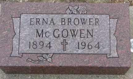 BROWER MCGOWEN, ERNA - Dixon County, Nebraska | ERNA BROWER MCGOWEN - Nebraska Gravestone Photos