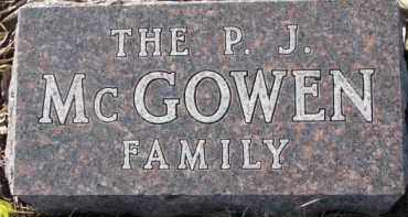 MCGOWEN, P.J. FAMILY - Dixon County, Nebraska | P.J. FAMILY MCGOWEN - Nebraska Gravestone Photos