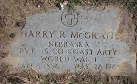 MCGRATH, HARRY R. (WW I MARKER) - Dixon County, Nebraska | HARRY R. (WW I MARKER) MCGRATH - Nebraska Gravestone Photos