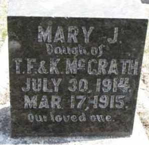 MCGRATH, MARY J. - Dixon County, Nebraska | MARY J. MCGRATH - Nebraska Gravestone Photos