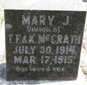 MCGRATH, MARY J. - Dixon County, Nebraska   MARY J. MCGRATH - Nebraska Gravestone Photos