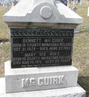 MCGUIRK, BENNETT - Dixon County, Nebraska | BENNETT MCGUIRK - Nebraska Gravestone Photos