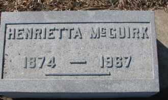 MCGUIRK, HENRIETTA - Dixon County, Nebraska | HENRIETTA MCGUIRK - Nebraska Gravestone Photos