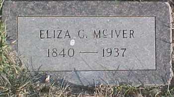 MCIVER, ELIZA C. - Dixon County, Nebraska   ELIZA C. MCIVER - Nebraska Gravestone Photos