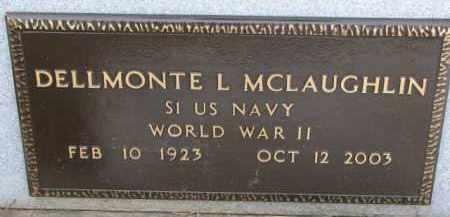 MCLAUGHLIN, DELLMONTE L. (WW II MARKER) - Dixon County, Nebraska | DELLMONTE L. (WW II MARKER) MCLAUGHLIN - Nebraska Gravestone Photos