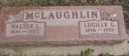 MCLAUGHLIN, WALTER L. - Dixon County, Nebraska | WALTER L. MCLAUGHLIN - Nebraska Gravestone Photos