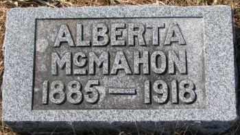 MCMAHON, ALBERTA - Dixon County, Nebraska   ALBERTA MCMAHON - Nebraska Gravestone Photos