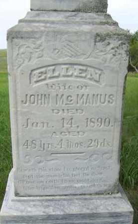MCMANUS, ELLEN - Dixon County, Nebraska | ELLEN MCMANUS - Nebraska Gravestone Photos
