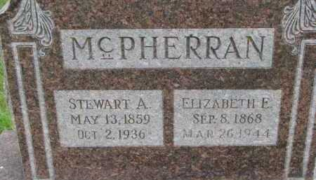 MCPHERRAN, ELIZABETH E. - Dixon County, Nebraska | ELIZABETH E. MCPHERRAN - Nebraska Gravestone Photos