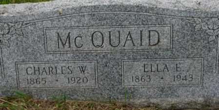MCQUAID, ELLA E. - Dixon County, Nebraska | ELLA E. MCQUAID - Nebraska Gravestone Photos