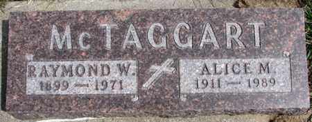 MCTAGGART, ALICE M. - Dixon County, Nebraska | ALICE M. MCTAGGART - Nebraska Gravestone Photos