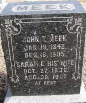 MEEK, JOHN T. - Dixon County, Nebraska | JOHN T. MEEK - Nebraska Gravestone Photos