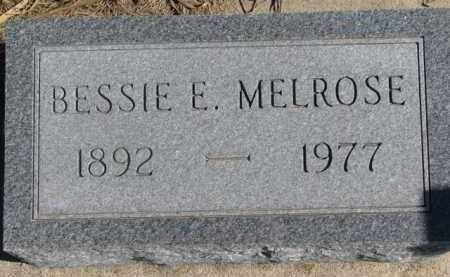 MELROSE, BESSIE E. - Dixon County, Nebraska | BESSIE E. MELROSE - Nebraska Gravestone Photos