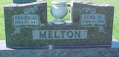 MELTON, PERRY ORVILLE - Dixon County, Nebraska | PERRY ORVILLE MELTON - Nebraska Gravestone Photos