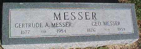 MESSER, GEORGE - Dixon County, Nebraska | GEORGE MESSER - Nebraska Gravestone Photos