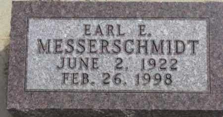 MESSERSCHMIDT, EARL E. - Dixon County, Nebraska   EARL E. MESSERSCHMIDT - Nebraska Gravestone Photos