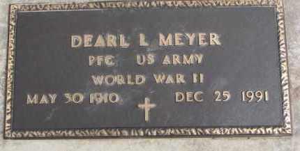 MEYER, DEARL L. (WWII MARKER) - Dixon County, Nebraska | DEARL L. (WWII MARKER) MEYER - Nebraska Gravestone Photos