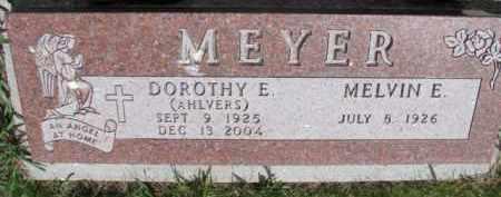 AHLVERS MEYER, DOROTHY E. - Dixon County, Nebraska | DOROTHY E. AHLVERS MEYER - Nebraska Gravestone Photos