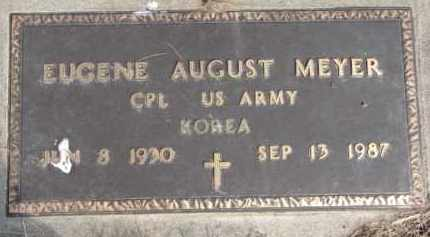 MEYER, EUGENE AUGUST (MILITARY MARKER) - Dixon County, Nebraska | EUGENE AUGUST (MILITARY MARKER) MEYER - Nebraska Gravestone Photos