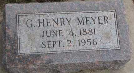 MEYER, G. HENRY - Dixon County, Nebraska | G. HENRY MEYER - Nebraska Gravestone Photos