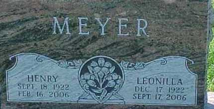 MEYER, LEONILLA - Dixon County, Nebraska | LEONILLA MEYER - Nebraska Gravestone Photos
