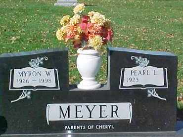 MEYER, MYRON W. - Dixon County, Nebraska | MYRON W. MEYER - Nebraska Gravestone Photos