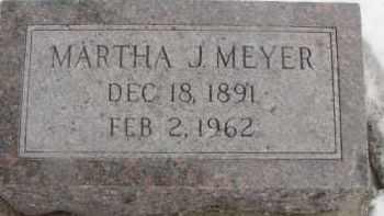 MEYER, MARTHA J. - Dixon County, Nebraska | MARTHA J. MEYER - Nebraska Gravestone Photos