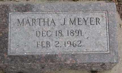 MEYER, MARTHA J. - Dixon County, Nebraska   MARTHA J. MEYER - Nebraska Gravestone Photos