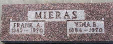MIERAS, VINA B. - Dixon County, Nebraska | VINA B. MIERAS - Nebraska Gravestone Photos
