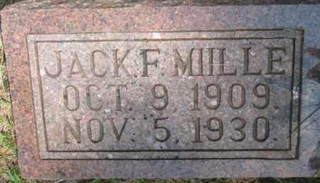MIILLE, JACK F. - Dixon County, Nebraska | JACK F. MIILLE - Nebraska Gravestone Photos