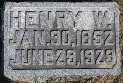 MILLER, HENRY W. - Dixon County, Nebraska | HENRY W. MILLER - Nebraska Gravestone Photos