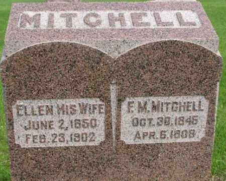 MITCHELL, ELLEN - Dixon County, Nebraska | ELLEN MITCHELL - Nebraska Gravestone Photos