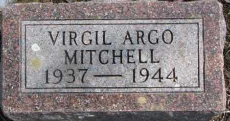 MITCHELL, VIRGIL ARGO - Dixon County, Nebraska | VIRGIL ARGO MITCHELL - Nebraska Gravestone Photos