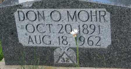 MOHR, DON O. - Dixon County, Nebraska   DON O. MOHR - Nebraska Gravestone Photos