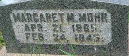 MOHR, MARGARET M. - Dixon County, Nebraska | MARGARET M. MOHR - Nebraska Gravestone Photos