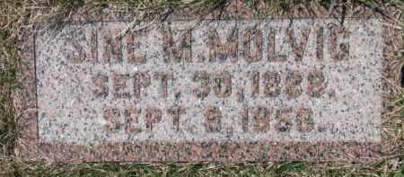 MOLVIG, SINE M. - Dixon County, Nebraska   SINE M. MOLVIG - Nebraska Gravestone Photos