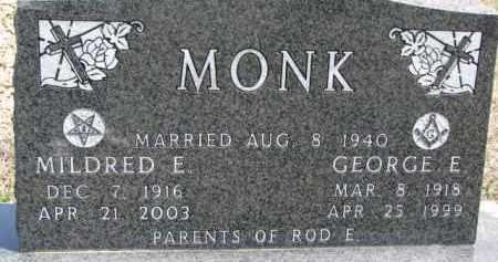 MONK, GEORGE E. - Dixon County, Nebraska | GEORGE E. MONK - Nebraska Gravestone Photos