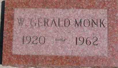 MONK, W. GERALD - Dixon County, Nebraska   W. GERALD MONK - Nebraska Gravestone Photos
