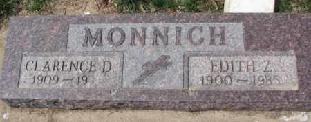 MONNICH, CLARENCE D. - Dixon County, Nebraska | CLARENCE D. MONNICH - Nebraska Gravestone Photos